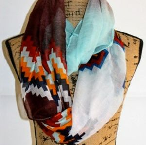 Accessories - Aztec Blended Infinity Scarf